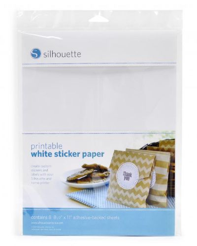 Silhouette Printable Sticker Paper - White/Clear